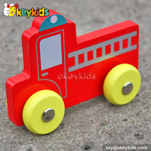 New design baby cartoon wooden mini toy cars W04A127