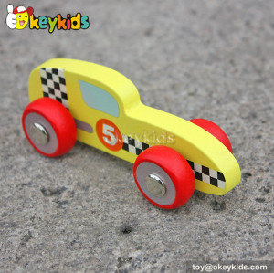 New design cartoon wooden toy car models for kdis W04A128