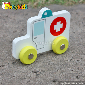 New design cartoon kids wooden toy vehicles for sale W04A128