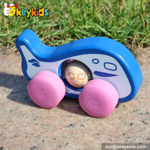 Colorful baby wooden mini car toys for sale W04A140
