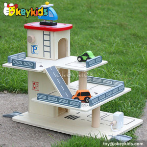 Top fashion kids wooden toy car garage for sale W04B023