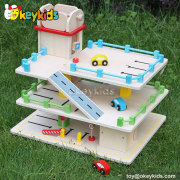 Top fashion kids wooden toy garage for sale W04B024