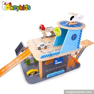 Best design children wooden toy garage for sale W04B027