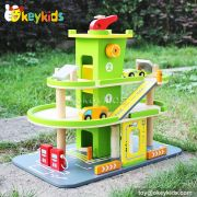 Okeykids Best design children wooden garage toy for sale W04B037