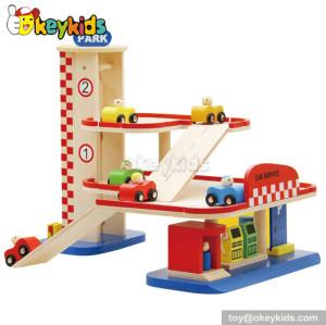 Best design children wooden garage toy for sale W04B031