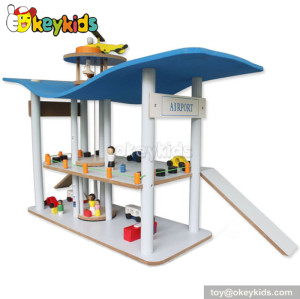 Best design wooden toy garage for toddlers W04B033