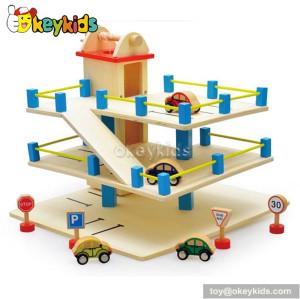 Wholesale fashion children wooden parking garage toy W04B008