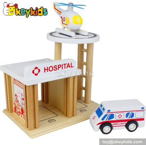 Best sale wooden boys toy garage W04B029