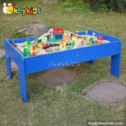 Top fashion kids wooden train sets for sale W04C009