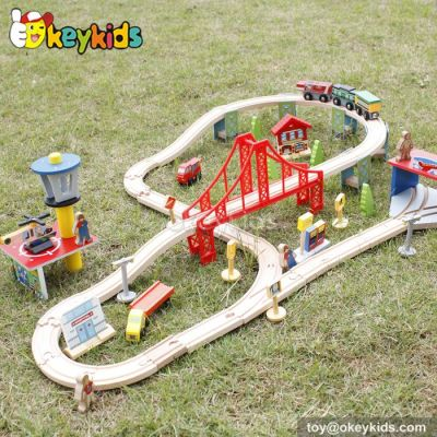 Best design kids wooden train sets for toddlers W04C054