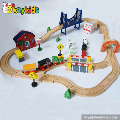 Wholesale fashion kids wooden toy train sets W04C016