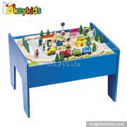 Top fashion wooden kids train table W04D007