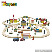 Manufacturer of children wooden the train toys W04D008