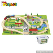 Wholesale high quality kids wooden the train toys W04D009