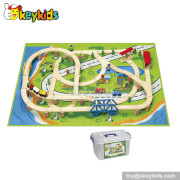 Hot sale wooden train sets for toddlers W04D010
