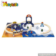 Hot sale baby wooden railway toys for sale W04D011