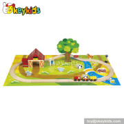 Wholesale cheap toddlers wooden railway toy W04D012