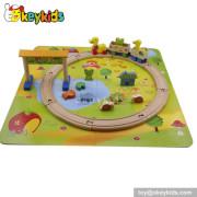 Best design kids mini wooden railway set W04C012