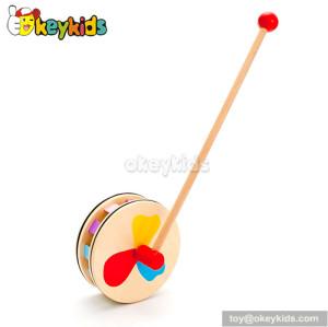 Preschool cartoon wooden toddler push toys W05A013