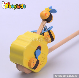 Preschool wooden push bell toys for babies W05A014
