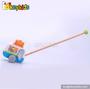 Preschool toddlers wooden push car toy for sale W05A015
