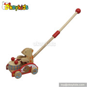 Best design wooden baby push cart for sale W05A007