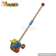 Best design wooden baby pull toys for sale W05A008