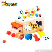Top fashion children animal toys wooden toddler push car W05B074