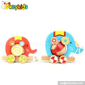 Lovely animal design wooden push pull toys for children best gift W05B075