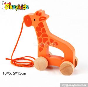 Cartoon car design wooden giraffe toy for toddlers W05B085