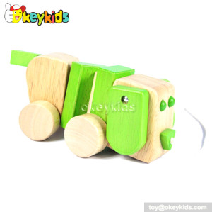 Cartoon animal dog design wooden toys for babies W05B099