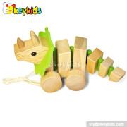 Cartoon animal car design wooden children's toys W05B100