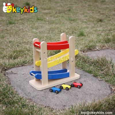 Creative ramp racer toy wooden kids playsets W04E031