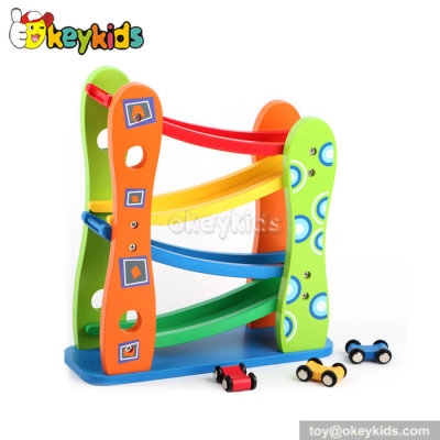 Creative ramp racer wooden educational toys for toddlers W04E035