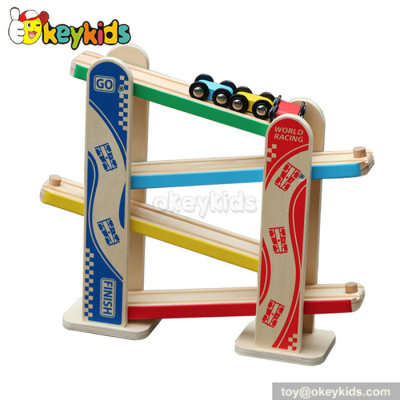 Educational wooden ramp racer toys for toddlers W04E036