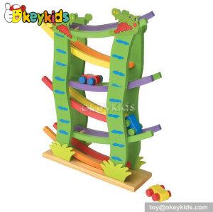 Top fashion kids educational wooden toy car ramp W04E020