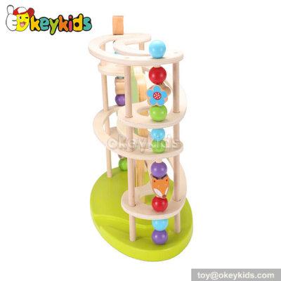 Educational ball toy kids wooden ramp racer W04E027