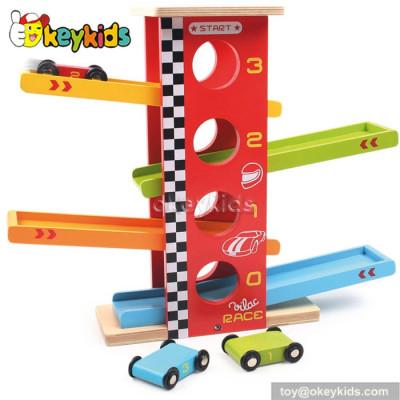 Top fashion children wooden car ramp toy W04C014