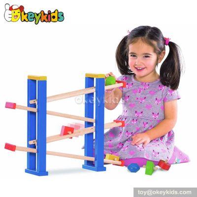 Best design children wooden car ramp toy W04C016