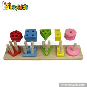 Best design funny baby wooden sorting and stacking toys W13D052