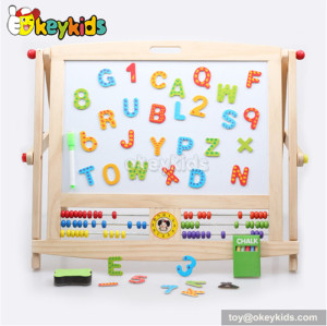 Best design double-sided educational wooden kids drawing toys W12B045