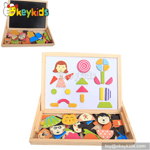 Best design double-sided educational wooden baby drawing toys W12B061