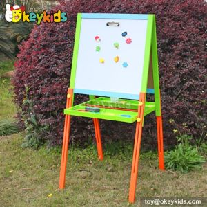 Best design double-sided educational children wooden magnetic drawing toy W12B052