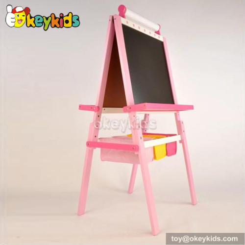 Best design educational red children wooden chalkboard easel W12B049B
