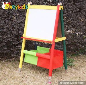 Best design double-sided educational wooden kids drawing board W12B047