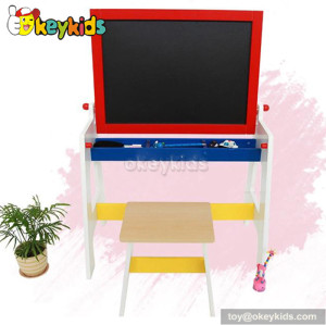 Best design educational wooden drawing table and chair for kids W12B050