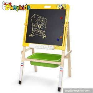 Best design double-sided educational children wooden drawing board for sale W12B056