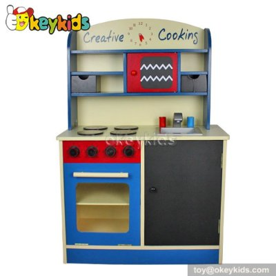2016 New design interesting wooden play kitchen for kids W10C012