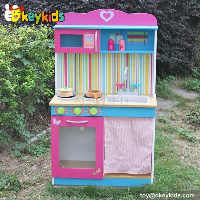 Most popular educational toy children wooden play kitchen sets W10C044