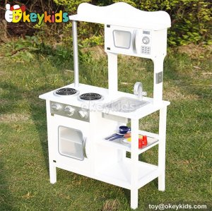 Most popular educational toy wooden kids kitchen set W10C045B